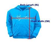 訂做衛衣HJ002量度方法