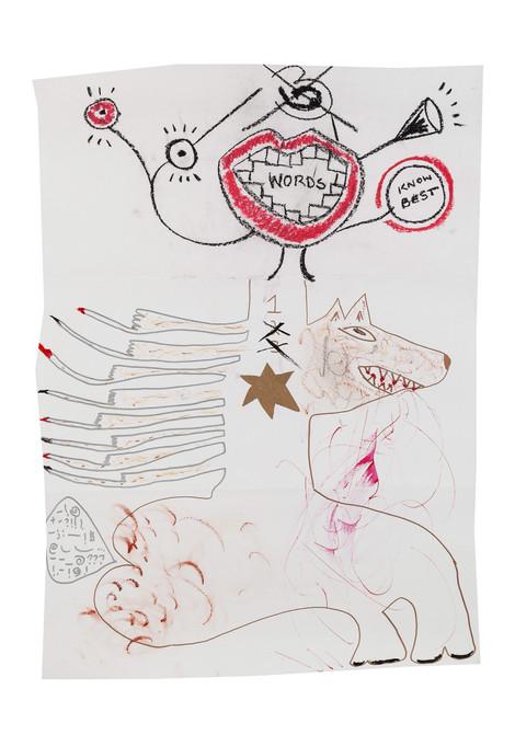 Exquisite corpse number 47 - 'Villain' (Diogo Duarte + Jessica Mitchell)