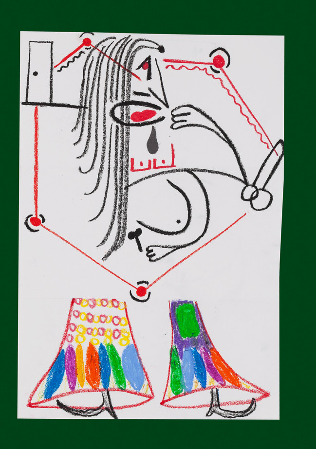 Exquisite corpse number 49 - 'Fool' (Diogo Duarte + Jessica Mitchell)