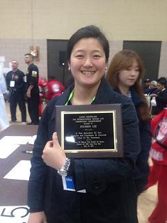 Judge Certificate at the International Taekwondo Championship