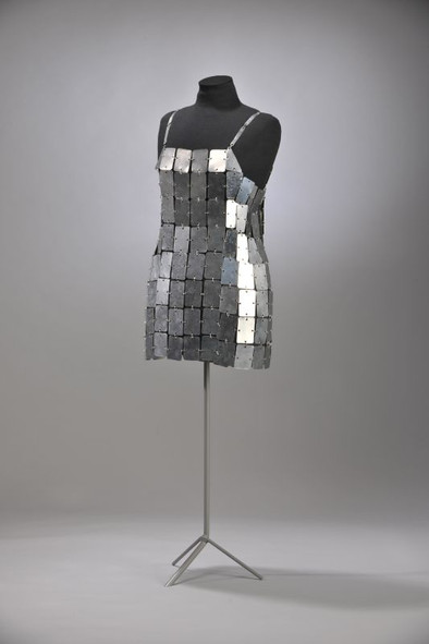 Paco Rabanne metal dress 1960s