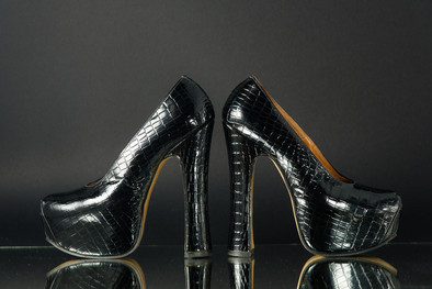 Vivienne Westwood 'Moc-croc'platform shoes 1993