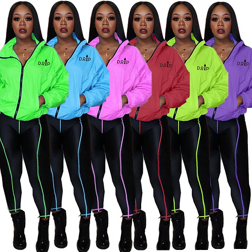NEON VIBES CASUAL SET