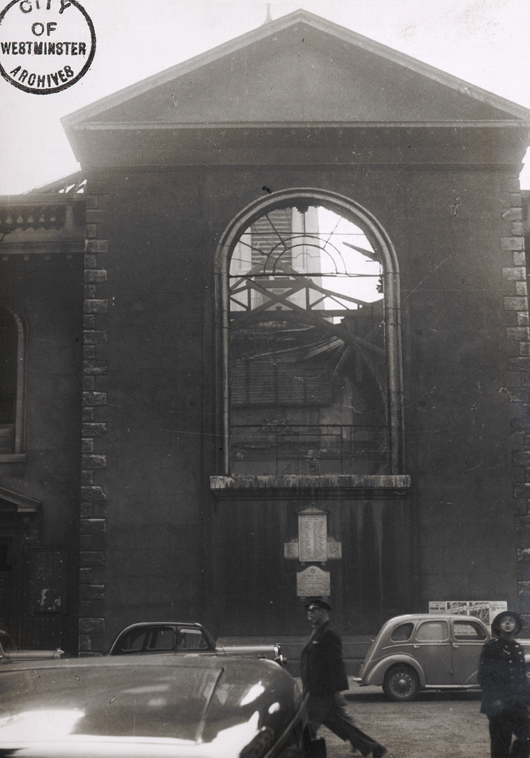 The East window after the bombing