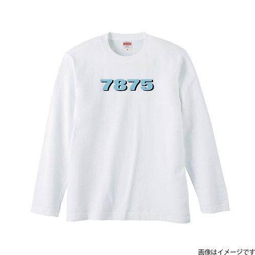 【7875】前面胸部空色ロゴ ロングスリーブTシャツ