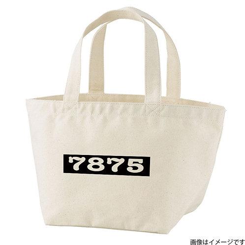 【7875】片面BOXロゴ 白×黒 トートバッグS