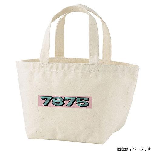 【7875】片面BOXロゴ青×桃 トートバッグS