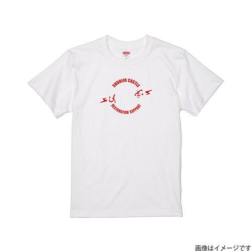 【首里城復興支援】オンリードラゴンレッドロゴ 半袖Tシャツ