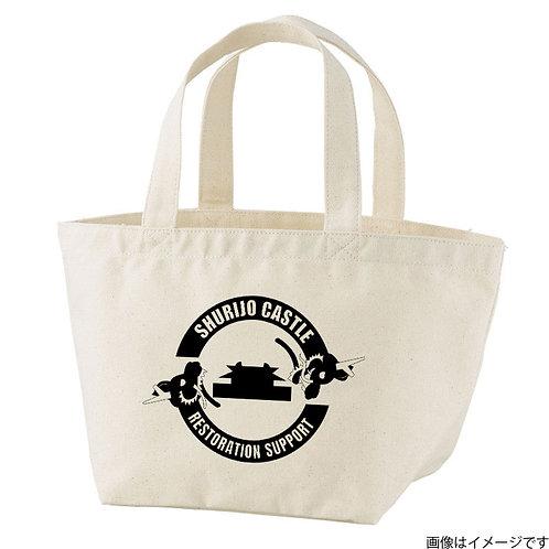 【首里城復興支援】ブラックロゴ トートバッグS