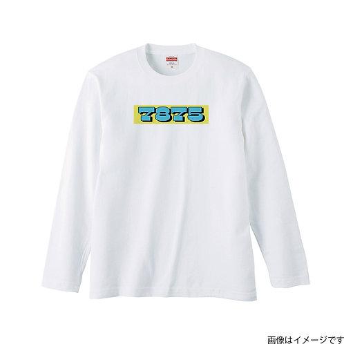 【7875】前面BOXロゴ 空×黄 ロングスリーブTシャツ