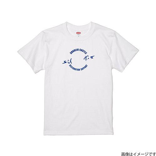【首里城復興支援】オンリードラゴンブルーロゴ 半袖Tシャツ