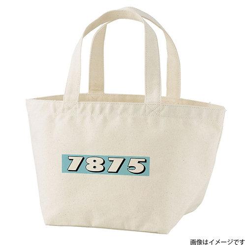 【7875】片面BOXロゴ 空×白 トートバッグS