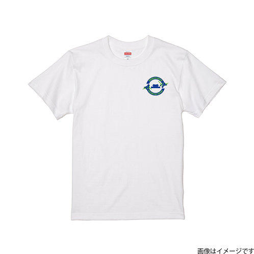 【首里城復興支援】ブルー&グリーンロゴ 半袖Tシャツ