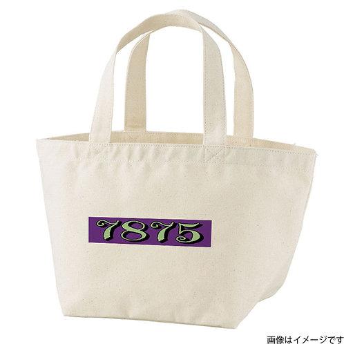 【7875】片面BOXロゴ 黄緑×紫 トートバッグS
