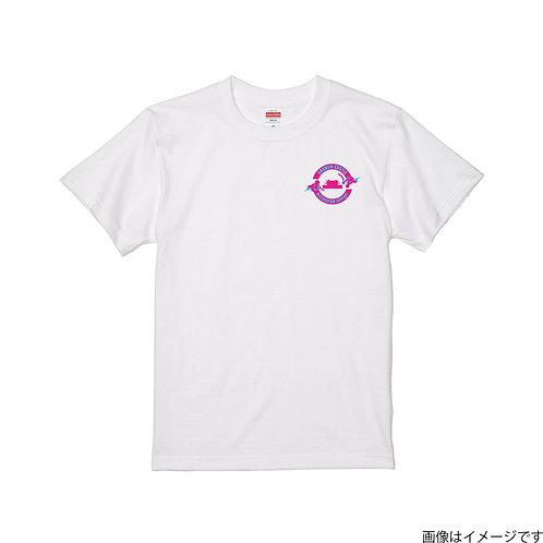 【首里城復興支援】ピンク&ブルーロゴ 半袖Tシャツ