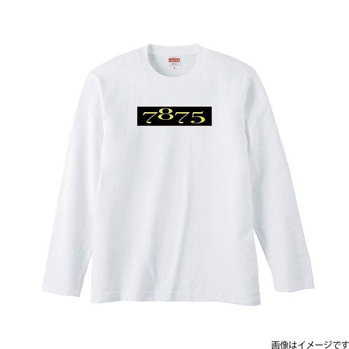【7875】前面BOXロゴ黒×黄 ロングスリーブTシャツ