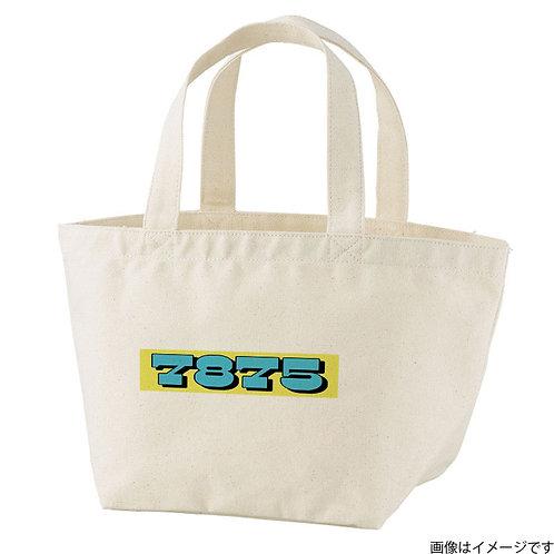 【7875】片面BOXロゴ 空×黄 トートバッグS