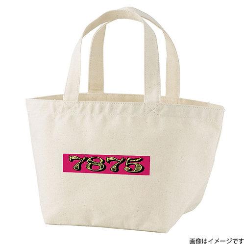 【7875】片面BOXロゴ 杏×黄 トートバッグS