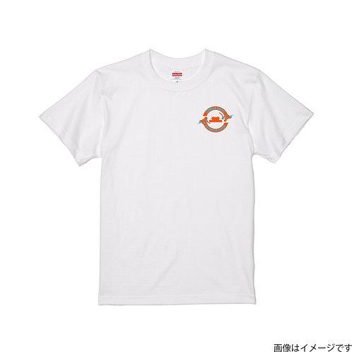 【首里城復興支援】オレンジ&ブルーロゴ 半袖Tシャツ