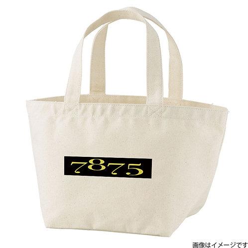 【7875】片面BOXロゴ黒×黄 トートバッグS