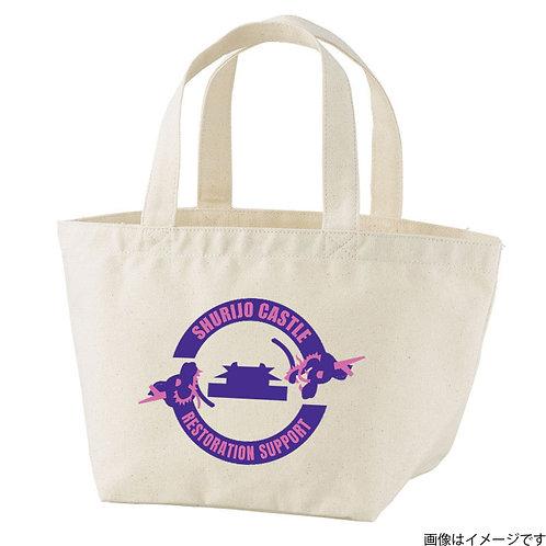 【首里城復興支援】パープル&ピンクロゴ トートバッグS