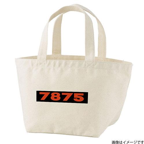 【7875】片面BOXロゴ濃橙×黒 トートバッグS