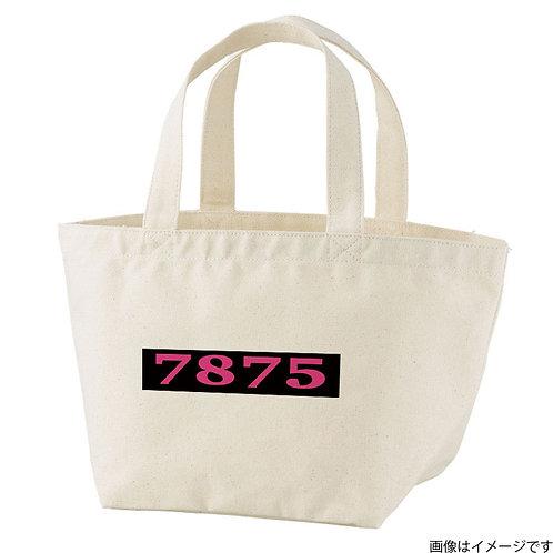 【7875】片面BOXロゴ 桃×黒 トートバッグS