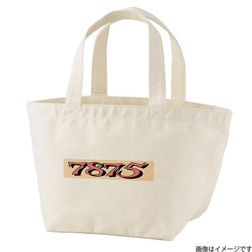 【7875】片面BOXロゴ橙×黒 トートバッグS