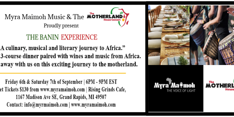 Banin Experience - 3 Course Dinner Cooking Class Paired with Beverages and Music from Africa