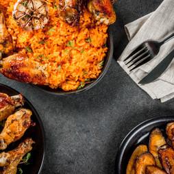 West African national cuisine. Jollof ri