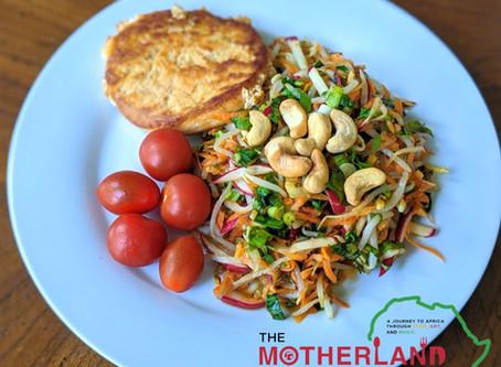 Panfried Salmon Burger and Refreshing Rainbow Salad