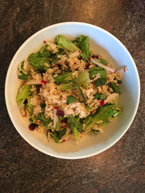Grains and Minty Greens with Maple Syrup Vinaigrette