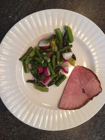 Roasted Asparagus and Radish Medley