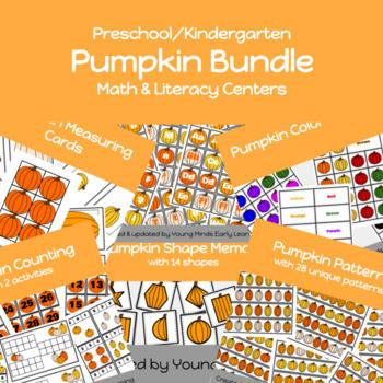 Pumpkin Themed Preschool and Kindergarten Unit with 8 activities