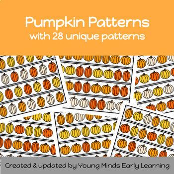 Pumpkin pattern cards activity