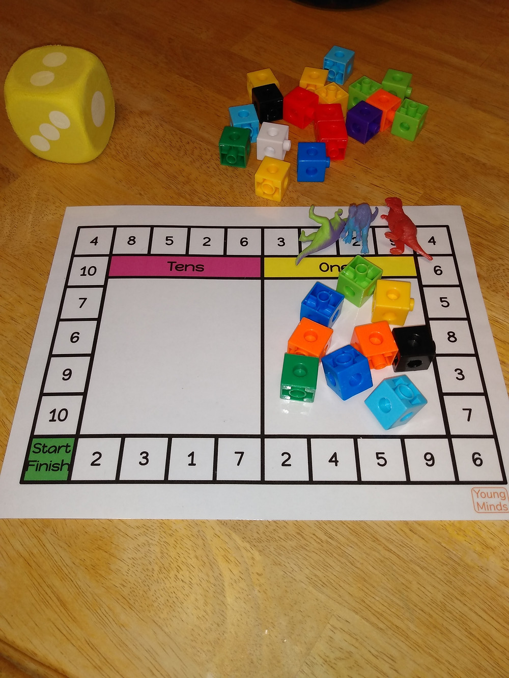 Base Ten Board Game numbers 1 to 10
