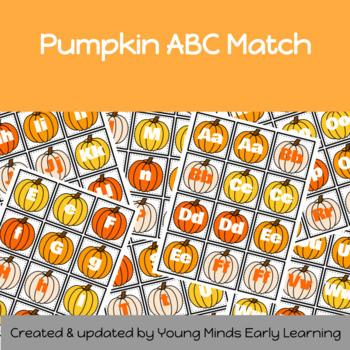 Pumpkin themed letter match set