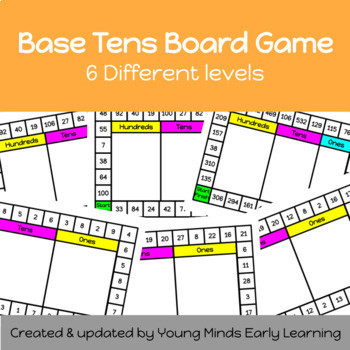 Base Ten Board Game Activity on 6 levels