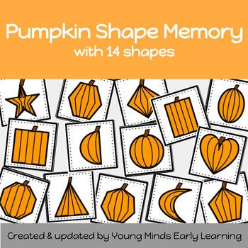 Pumpkin themed shape match activity