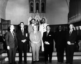 1955 local clergy gathering.