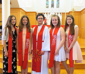 PASTOR AND CONFIRMATION CLASS 2018 .