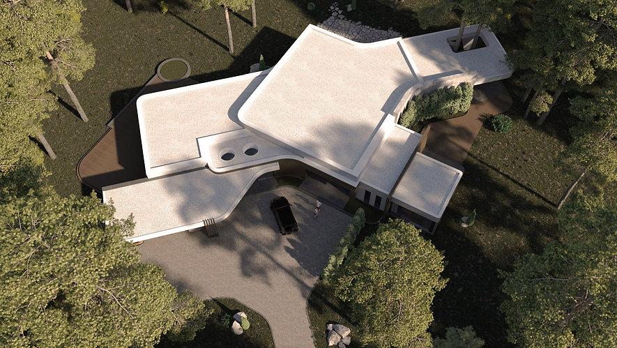 Дом в стиле конструктивизм вид сверху.jp