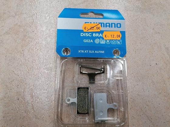 plaquettes de freins Shimano résine support aluminium