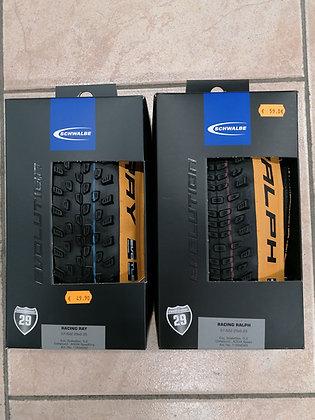 Kit de pneus spécial avant et arrière Schwalbe racing ray et racing ralph