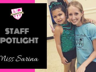 Staff Spotlight: Miss Sarina