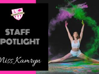 Staff Spotlight: Miss Kamryn