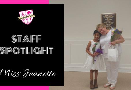 Staff Spotlight: Miss Jeanette