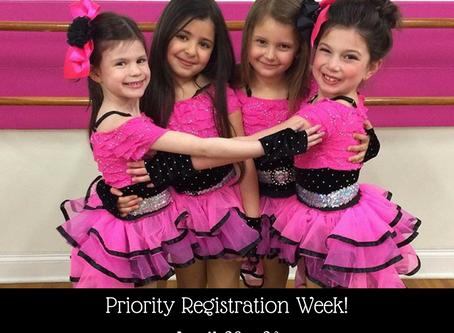 NEXT WEEK! Priority Registration