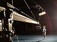 shooting a commercial with jimmy jib camera crane