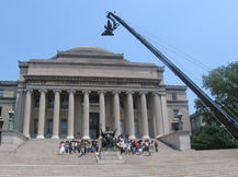 Columbia University Library film shoot, Howard Heitner Jib Operator